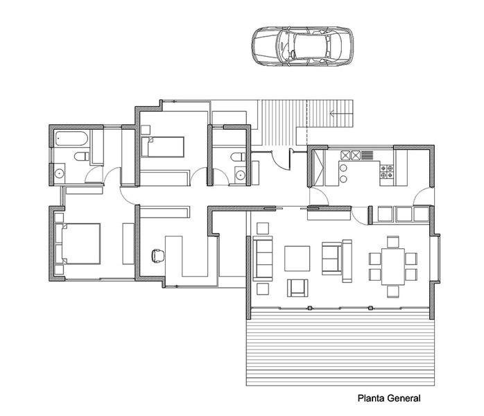 Casa Blanco_Planta 1º Piso
